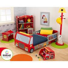 kidkraft firefighter toddler car configurable bedroom set