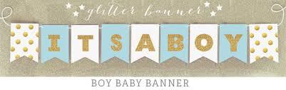 baby shower banner it s a boy banner glitter baby shower banner decorations