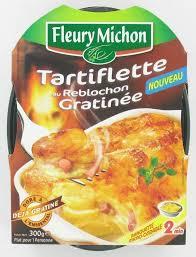 plat cuisiné fleury michon plat cuisiné fleury michon tartiflette au reblochon gratinée 1 x