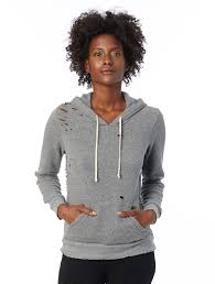 athletics eco fleece super distressed hoodie 09596sd
