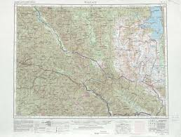 Idaho Montana Map by Wallace Topographic Maps Mt Id Usgs Topo Quad 47114a1 At 1
