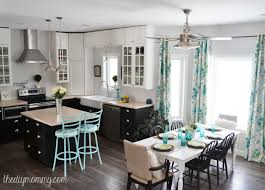 Black White And Red Kitchen Ideas A Black White And Turquoise Diy Kitchen Design With Ikea Cabinets