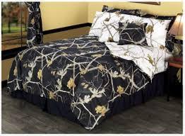 bass pro shops realtree apc reversible black and snow bedding