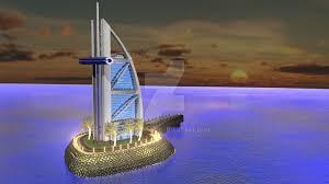 the burj al arab by guineapog on deviantart
