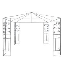 Patio Gazebo 10 X 10 by Outsunny 10 U0027x10 U0027 Patio Gazebo Frame Outdoor Event Sun Shelter