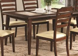 baker dining table in warm brown by coaster w options
