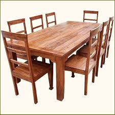Distressed Wood Dining Table Set - Wood dining room chairs