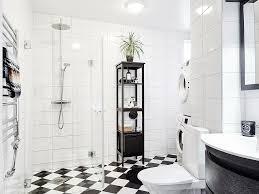 Installing Wall Tile Bathroom Black And White Bathroom Black Wooden Shelf Diagonal