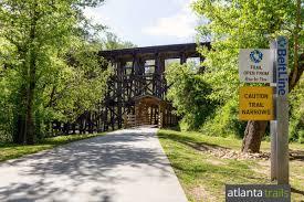 Atlanta Beltline Trail Map by Tanyard Creek Park Running The Northside Beltline Trail