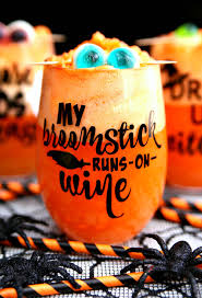 halloween wine glasses u0026 spiked halloween punch happy go lucky