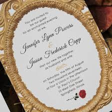 beauty and the beast wedding invitations beauty and the beast fairy tale enchanted mirror and