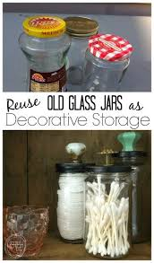 Bathroom Storage Containers by Reuse Old Glass Jars For Bathroom Organization Bathroom