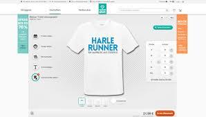 produkte selbst designen laufshirts und bekleidung selbst gestalten harlerunner ein