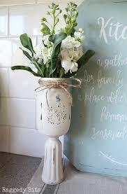 jar vases how to make farmhouse flower jar vases raggedy bits