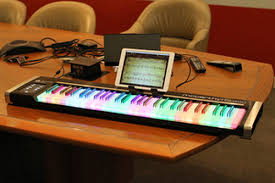 piano keyboard with light up keys light up keyboard turns you into a piano man