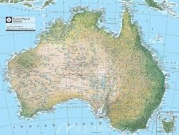 map of austarlia australia physical map wall mural by magicmurals