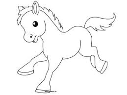 Dessin Poney A Imprimer Az Coloriage Cute Animal Drawings For Cards