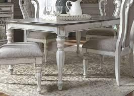 90 Dining Table Magnolia Manor Antique White 90 Extendable Rectangular Leg Dining