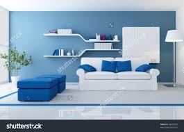 blue and white living room home design ideas