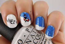 12 days of christmas nail art challenge snow day be happy and