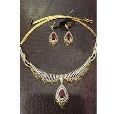 diamond necklace ruby images Ladies ruby diamond necklace set at rs 250000 set diamond jpg