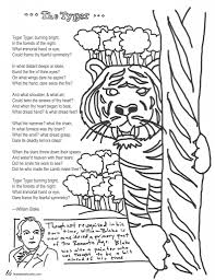 coloring page poems the tyger by william blake