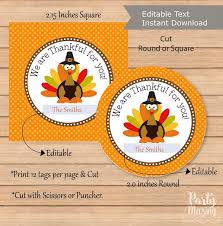 editable thanksgiving favor tag printable we are thankful for you