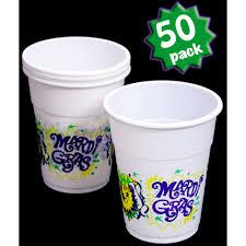 mardi gras throw cups 50 plastic mardi gras cups mardigrasoutlet