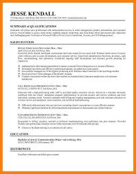 career summary resume examples example qualifications for resume