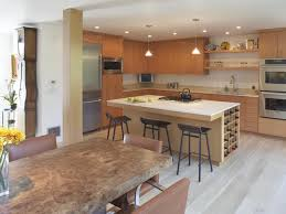 open kitchen with island contemporary home design using open