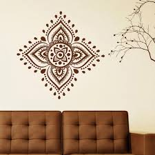 Wall Decals Mandala Ornament Indian by Mandala Flower Wall Decal Yoga Flower Mehndi Indian Mandala Om