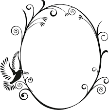 oval bird frame wall sticker world of stickers e2 80 93 decal home decor large size oval bird frame wall sticker world of stickers e2