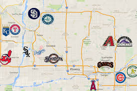 Az City Map Arizona Spring Training Map My Blog