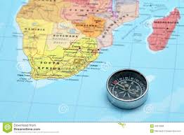 Picture Of Africa Map by Travel Destination South Africa Map With Compass Stock Photo