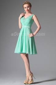 light green dress with sleeves 2014 new light green v cut cocktail dress party dress edressit