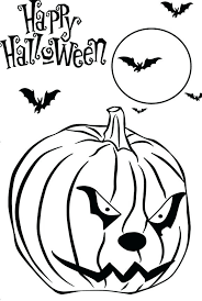 Cool Halloween Coloring Pages Scary Pumpkin Free Printable Scary Coloring Paes