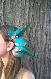 how to make feather ear cuffs bnwt wood and glass beaded feather ear cuff boutique ear cuffs