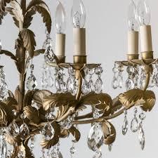 Gold Leaf Chandelier Italian Eight Light Chandelier Gold Leaf Design