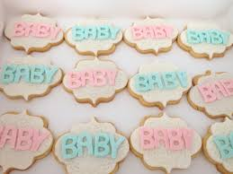 butter cookies with fondant baby shower twins baby boy baby
