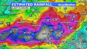 rainfall totals map map estimated rainfall totals for houston area