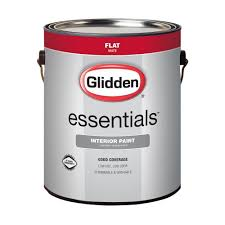 glidden essentials 1 gal white flat interior paint gle 1000 01