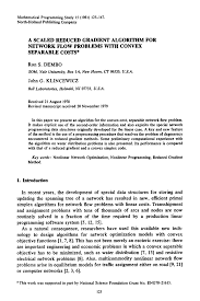 a scaled reduced gradient algorithm for network flow problems with