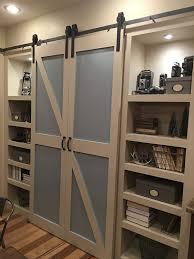 Rustic Barn Door Hardware by Amazon Com Double Door Sliding Barn Door Hardware Kit With 12