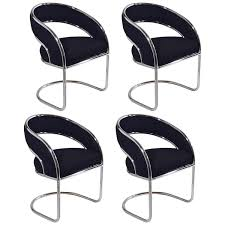 Mid Century Dining Chairs Upholstered Buy S 4 Mid Century Modern Upholstered Chrome Sling Back Chairs For