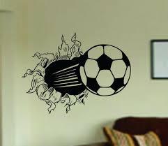 world cup special soccer ball bursting through wall vinyl wall world cup special soccer ball bursting through wall vinyl wall decal sticker art sports kid children