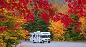 motorhome england rest area foliage season monty u0027s rv