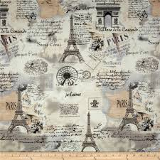 World Map Fabric by Timeless Treasures Letters From Paris Paris Map Cream Discount