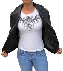 womens stylish fashion lambskin leather biker jacket item