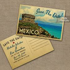 postcard save the dates mexico save the date postcard vintage travel mexico save the