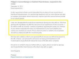 tripadvisor response examples